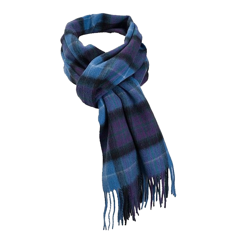Pride of Scotland Brushed Wool Tartan Scarf in Pride of Scotland Ancient