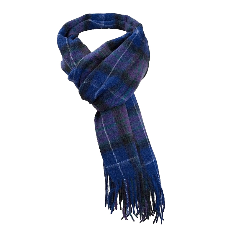 Pride of Scotland Brushed Wool Tartan Scarf in Pride of Scotland Modern