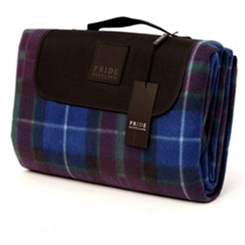 Waterproof Backed Tartan Picnic Rug in Pride of Scotland Modern