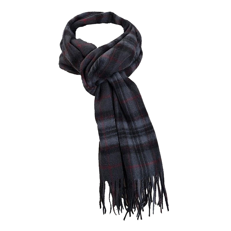 Pride of Scotland Brushed Wool Tartan Scarf in Pride of Scotland Silver