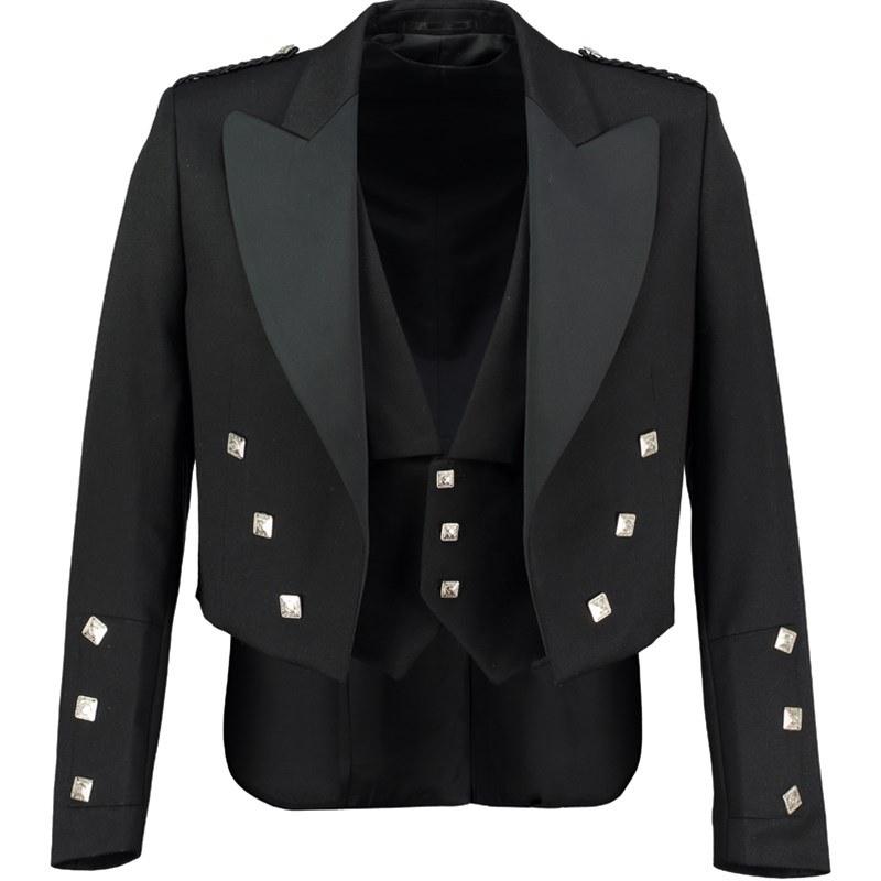 Chaqueta y Chaleco Prince Charlie in Black