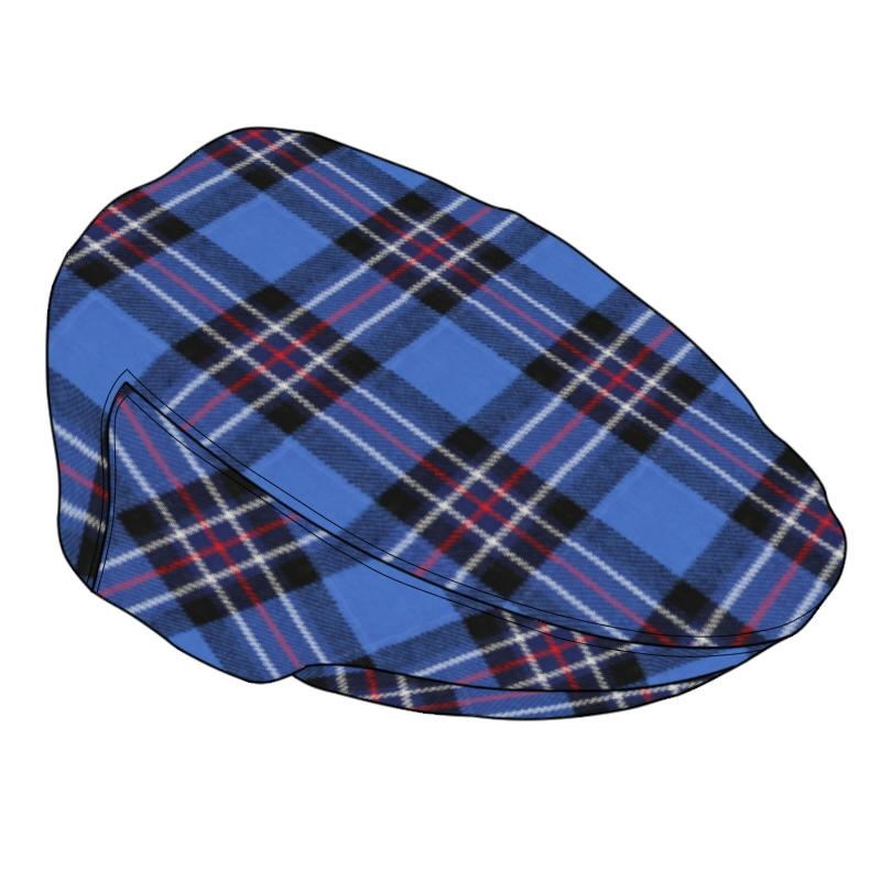 Tartan Flat Cap in Rangers Football Club