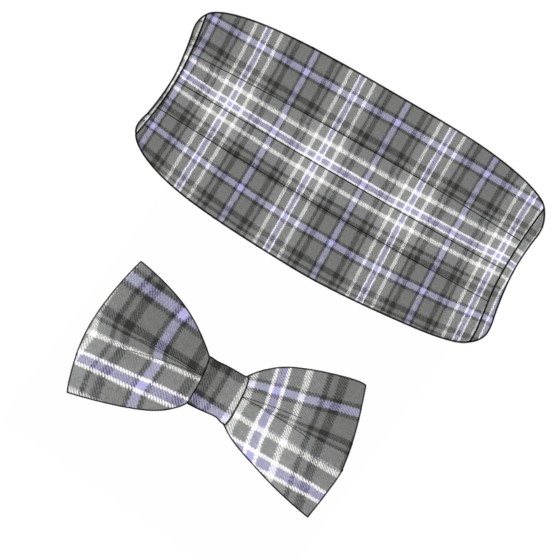 Wool Tartan Bow Tie & Cummerbund Set in Scotland Forever Antique