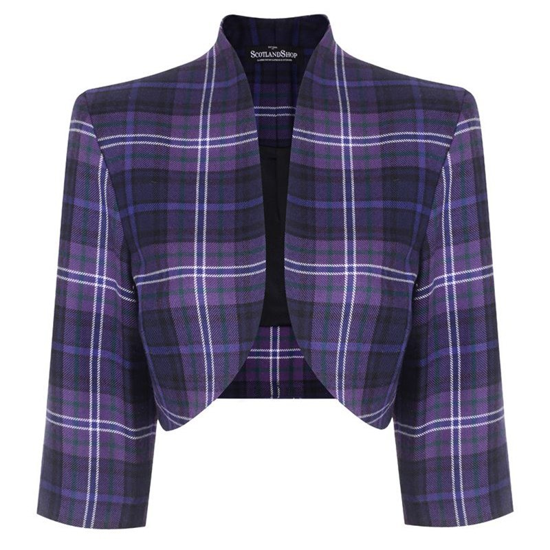 Scotland Forever Girls Tartan Bolero Jacket