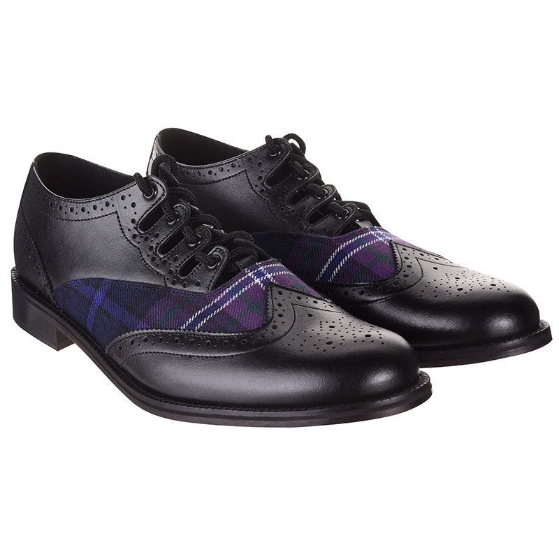 Scotland Forever Tartan Kilt Shoes Side