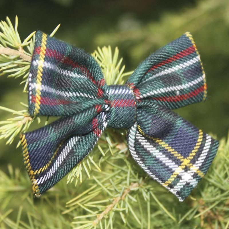 Scott Green Modern Tartan Bow Decoration