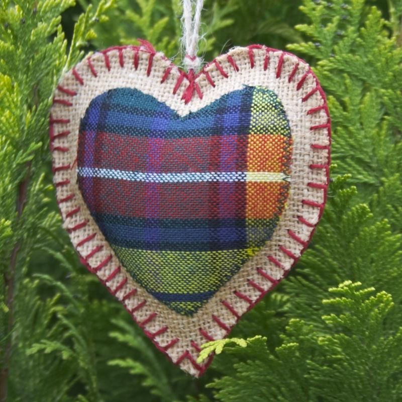 Scottish Tartan Heart 1