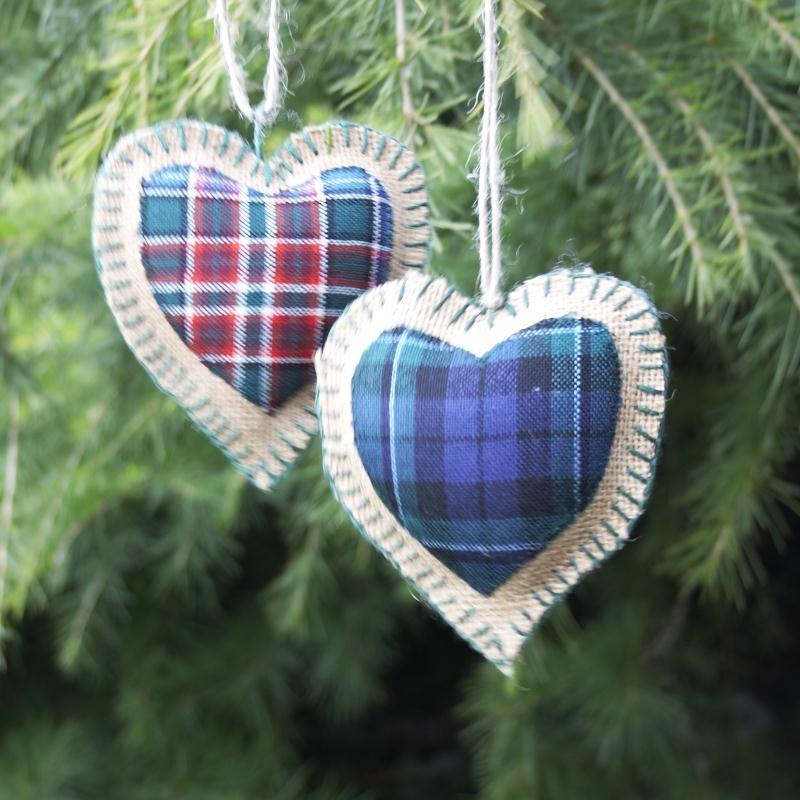 Scottish Tartan Heart