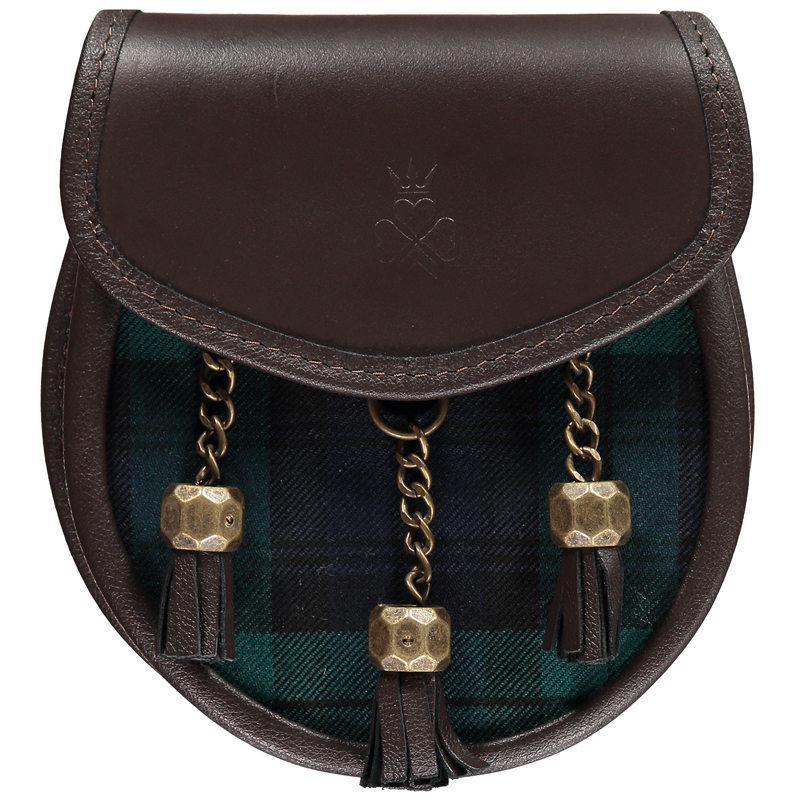 Tartan Sporran Bag in Black Watch Modern