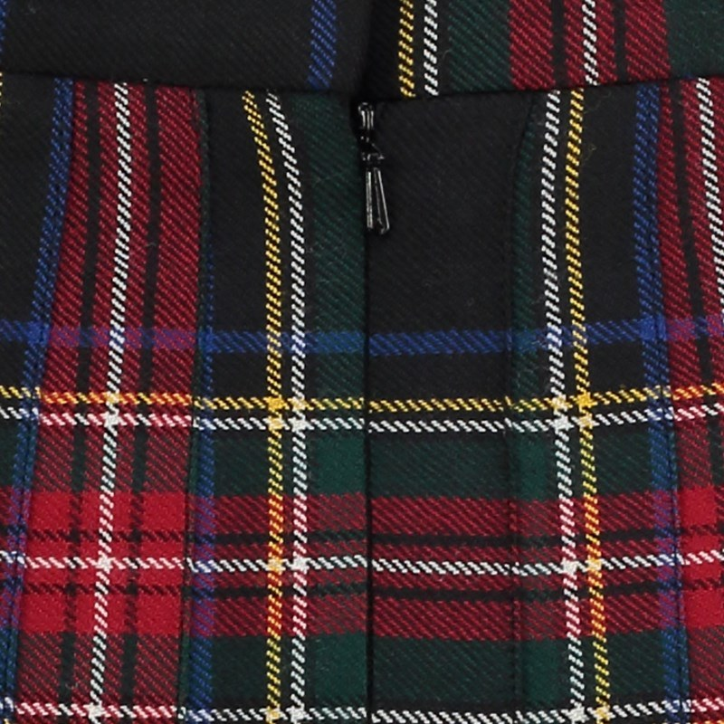 Stewart Black Tartan All Round Pleated Skirt 2