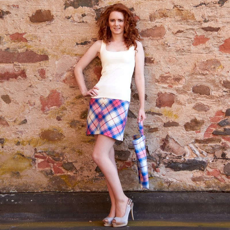 Sunart Sapphire Tartan Mini Skirt 2