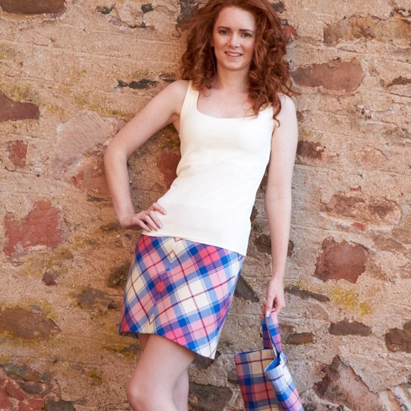 Sunart Sapphire Tartan Mini Skirt 3