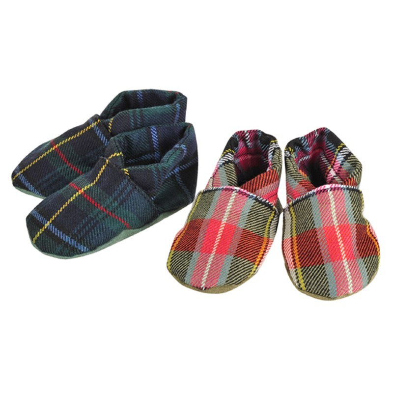 Plaid Baby Shoes