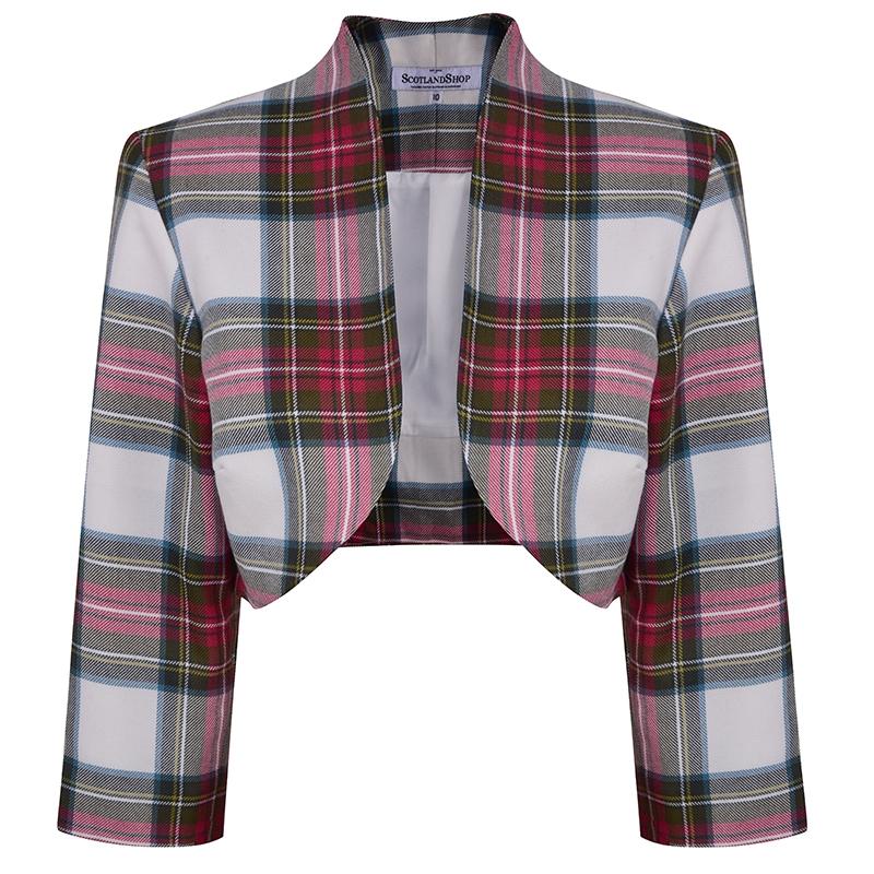 Tartan Bolero Jacket in Stewart Dress Weathered