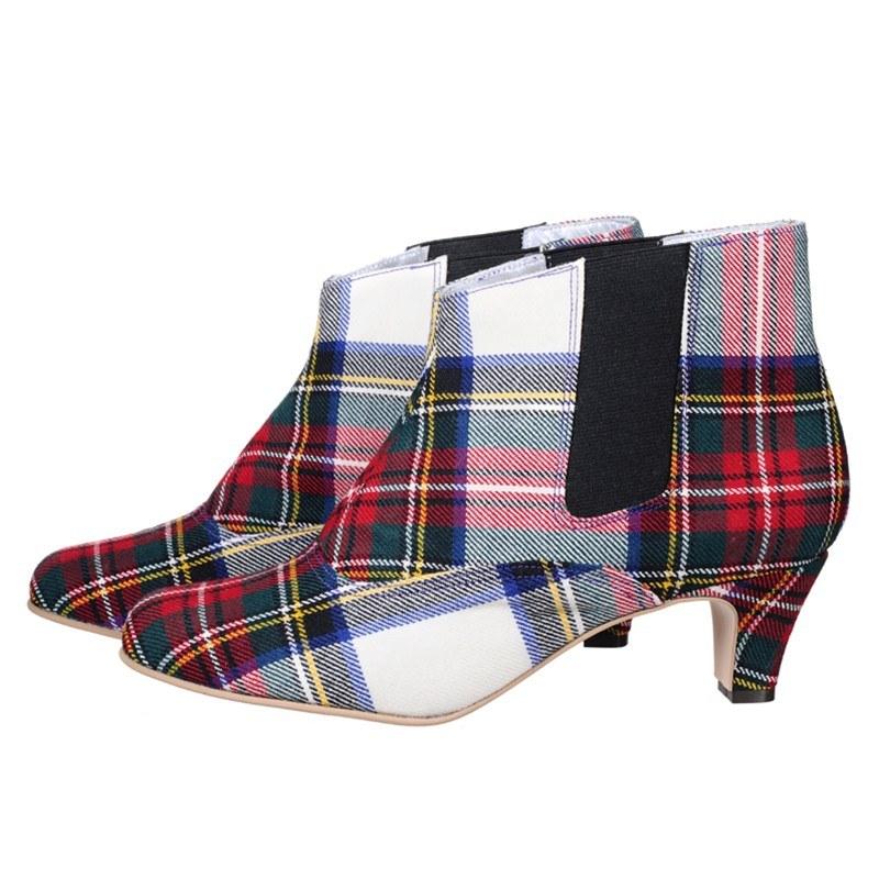 Tartan Chelsea Boots - Stewart Dress Modern