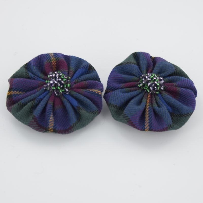 Tartan Hair Brooch Set Of 2 1