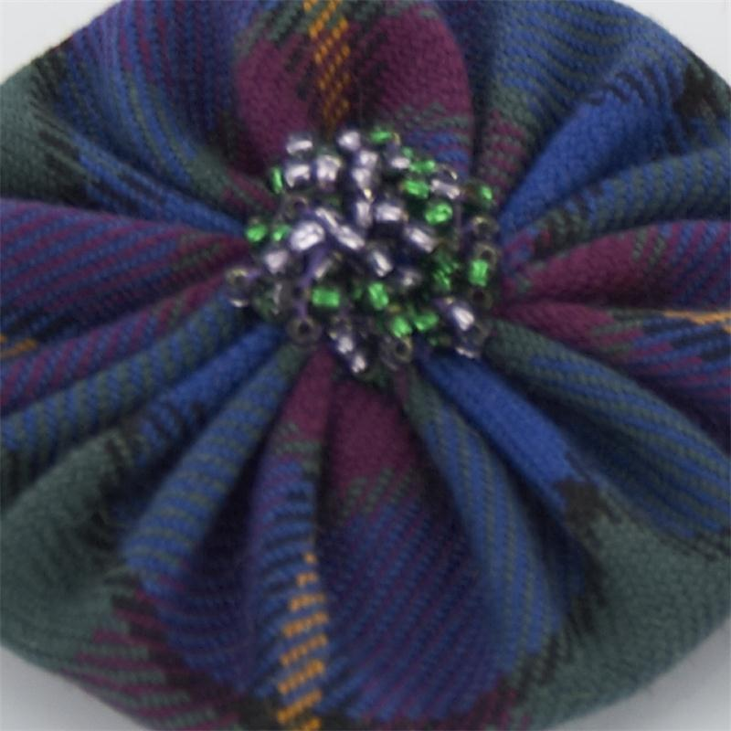 Tartan Hair Brooch Set Of 2 2