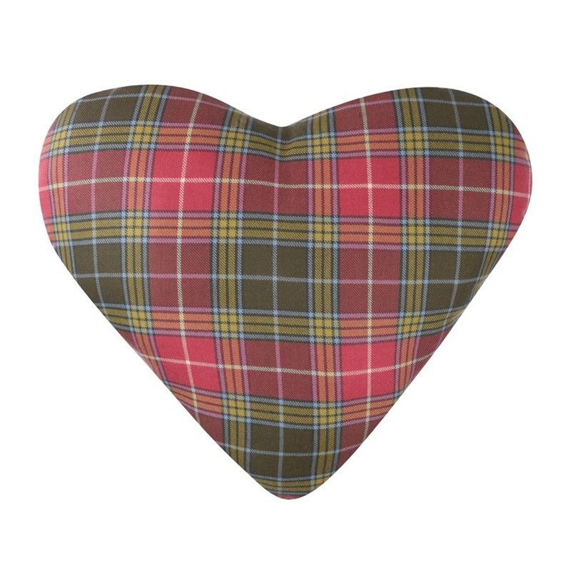 hTartan Heart Cushion