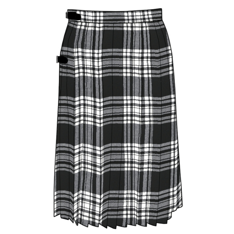 Plaid Kilted Skirt Made To Order