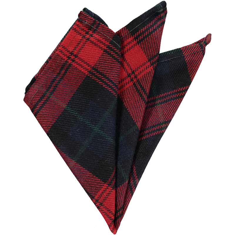 Wool Tartan Pocket Square in Maclachlan Modern