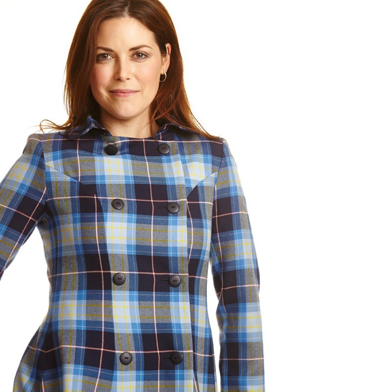 The Kate Coat In Tartan 1