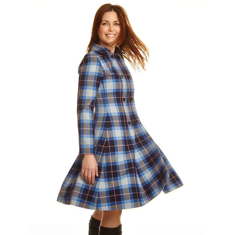 The Kate Coat In Tartan 3