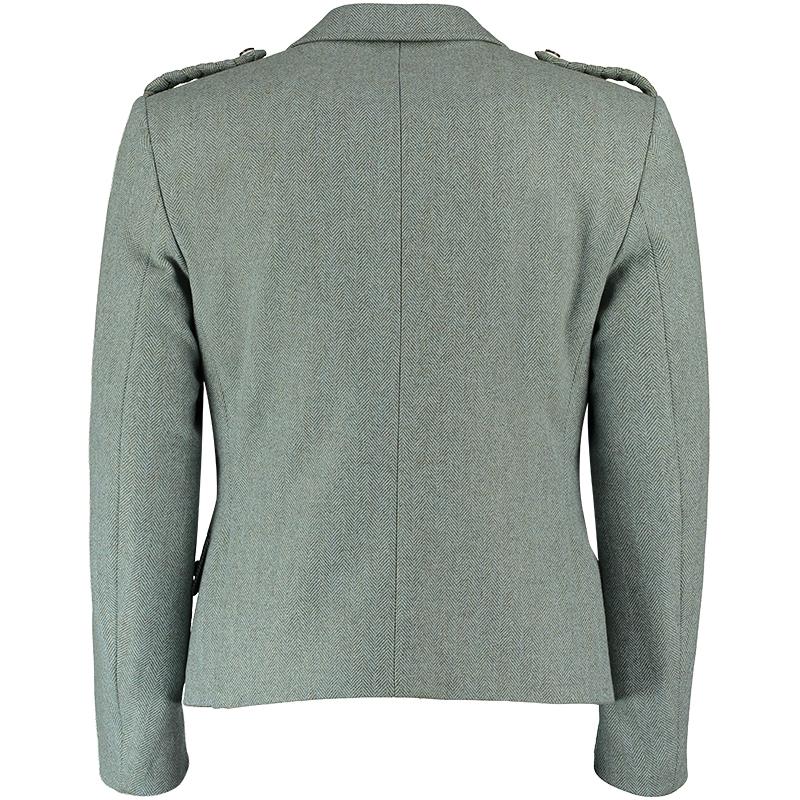 Tweed Kilt Jacket And Waistcoat Moss Back