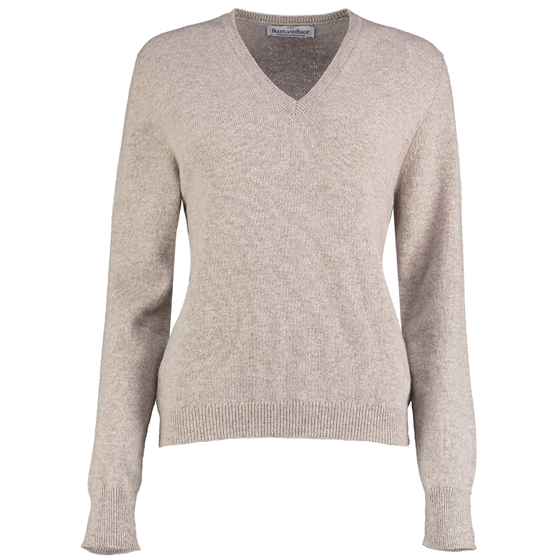 Women's V Neck Lambswool Sweater