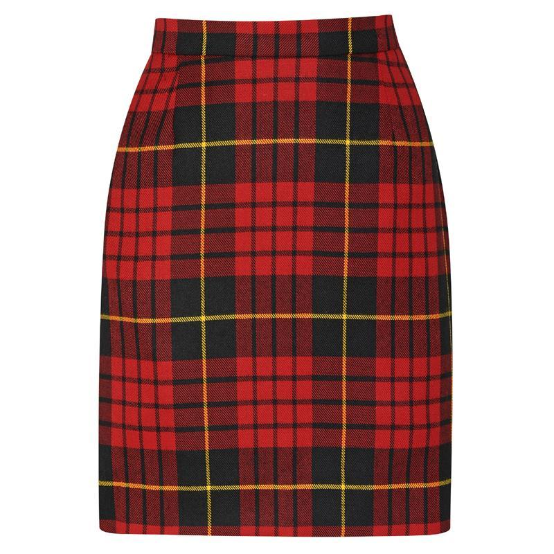Wallace Modern Tartan Pencil Skirt