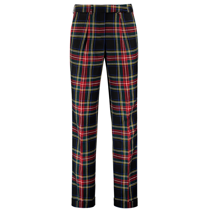 pantalon femme ecossais
