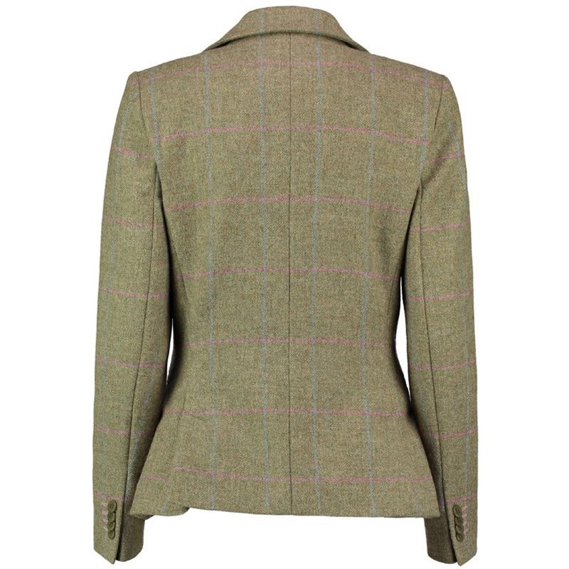 Womens Tweed Jacket Back