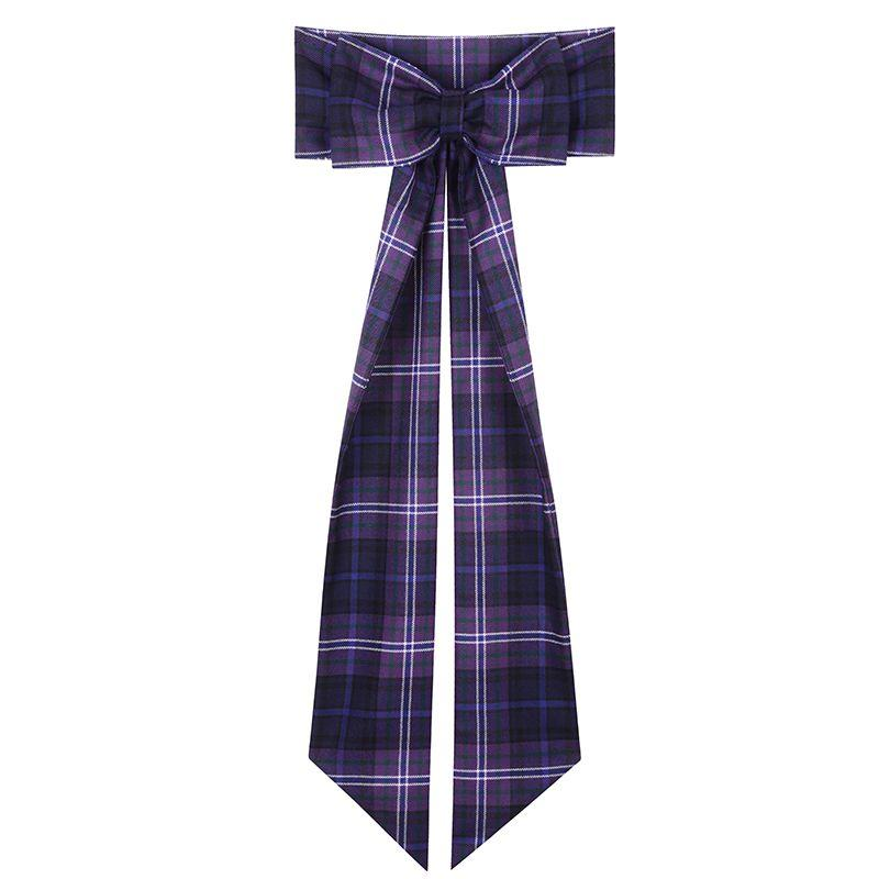 Women's Wool Tartan Sash with Bow