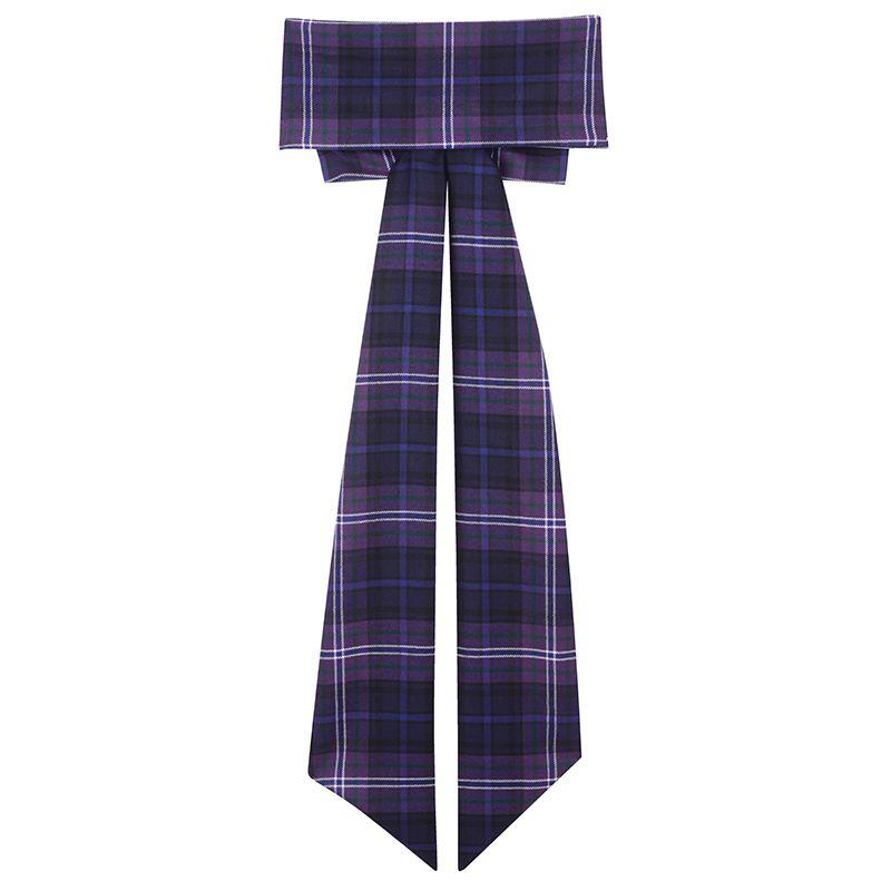 Wool Tartan Sash With Bow Front Compressor