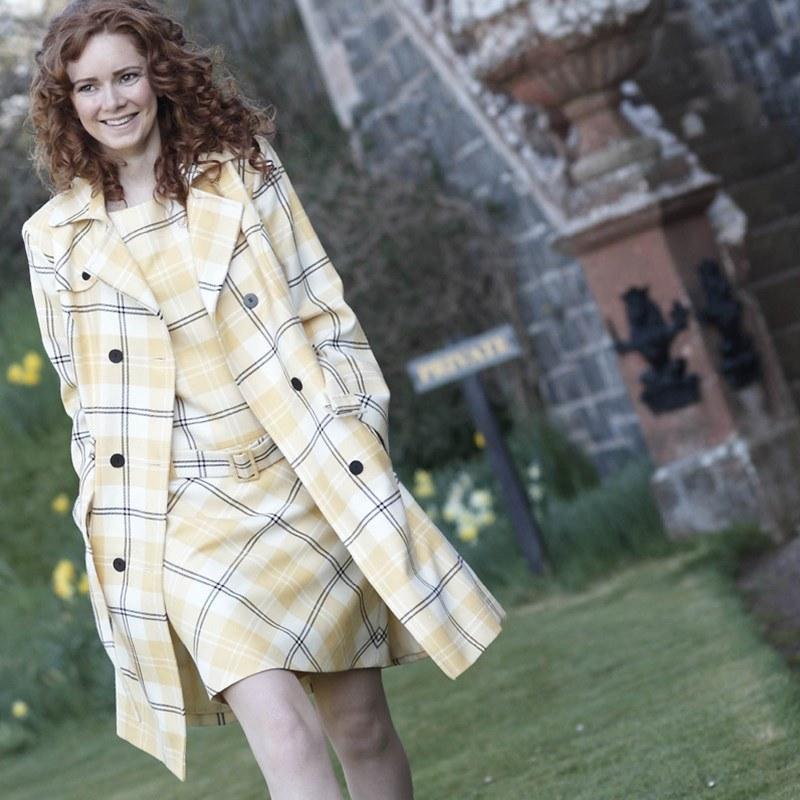 Ailsa Yellow Tartan Shift Dress