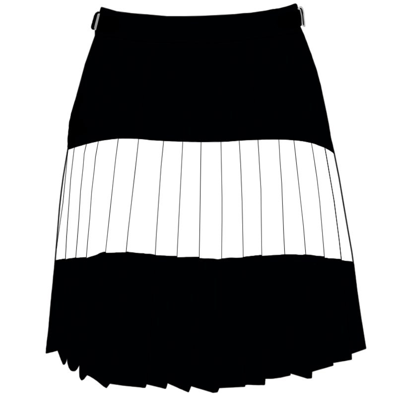 Tartan Stripe Skirlt Drape