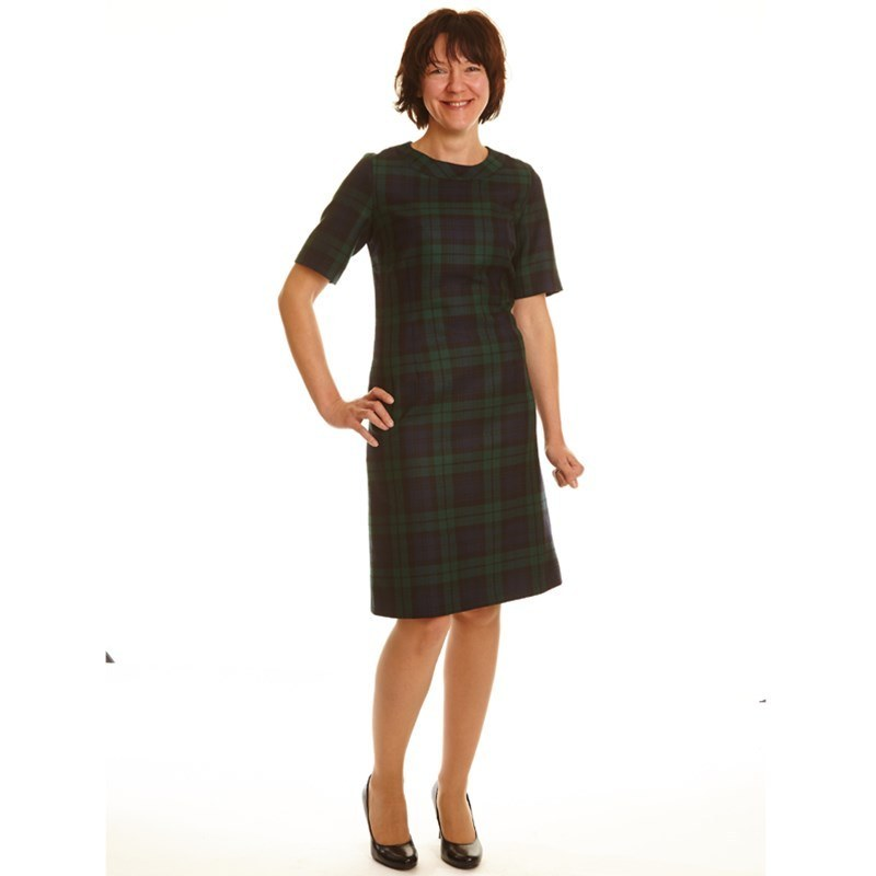 Black Watch Modern Round Neck Tartan Dress1
