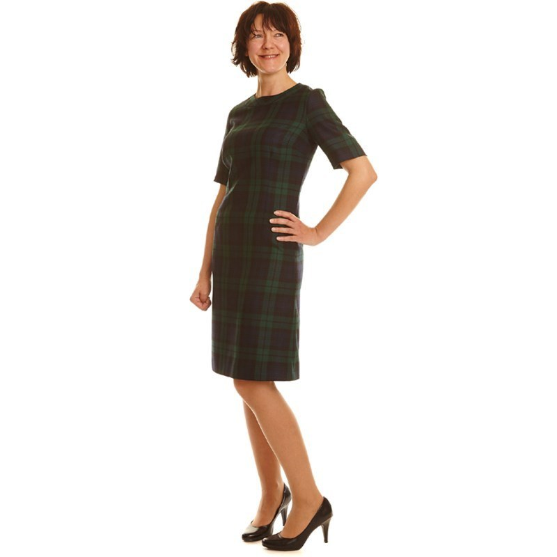 Black Watch Modern Round Neck Tartan Dress2