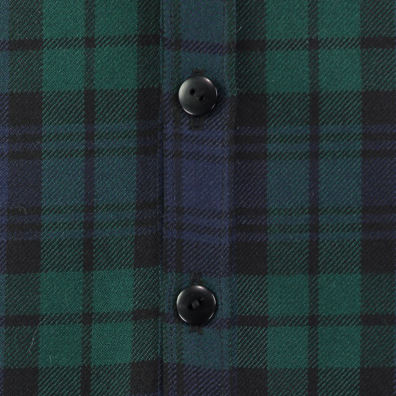 Black Watch Modern Tartan Shirt Buttons