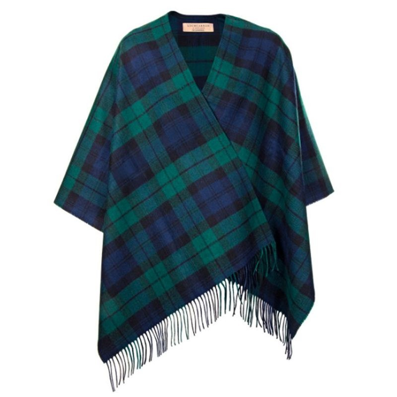 Plaid Serape in Black Watch Modern