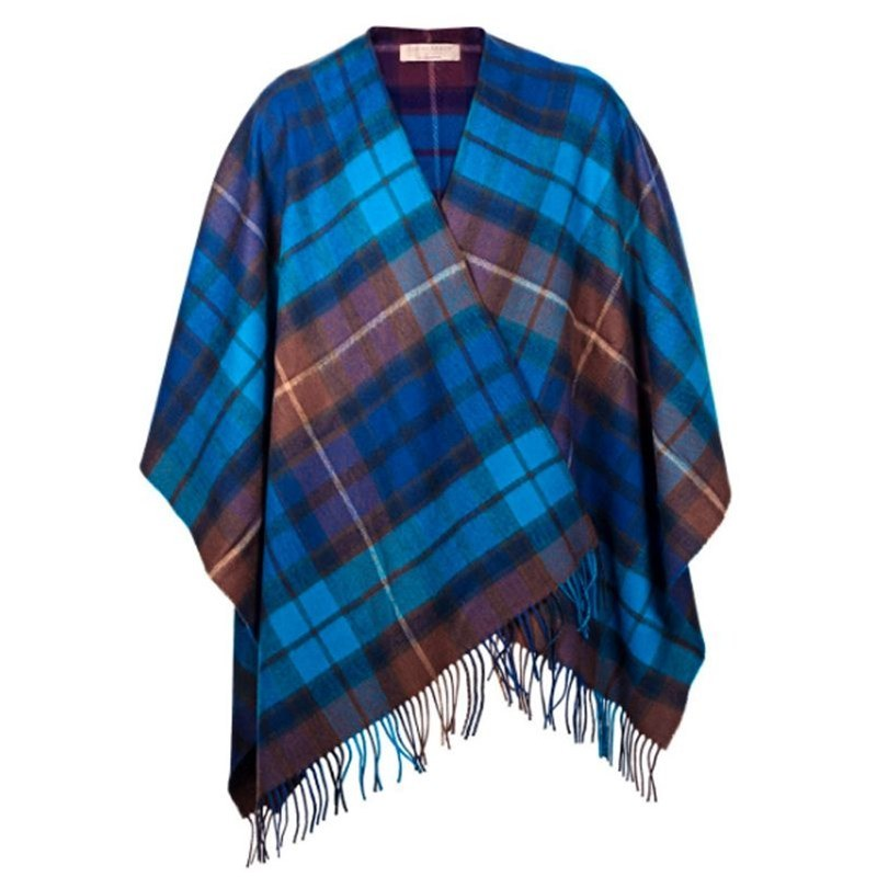 Plaid Serape in Buchanan Blue
