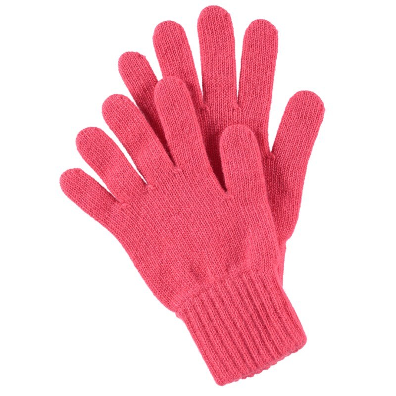 Women's Everyday Cashmere Gloves in Coral
