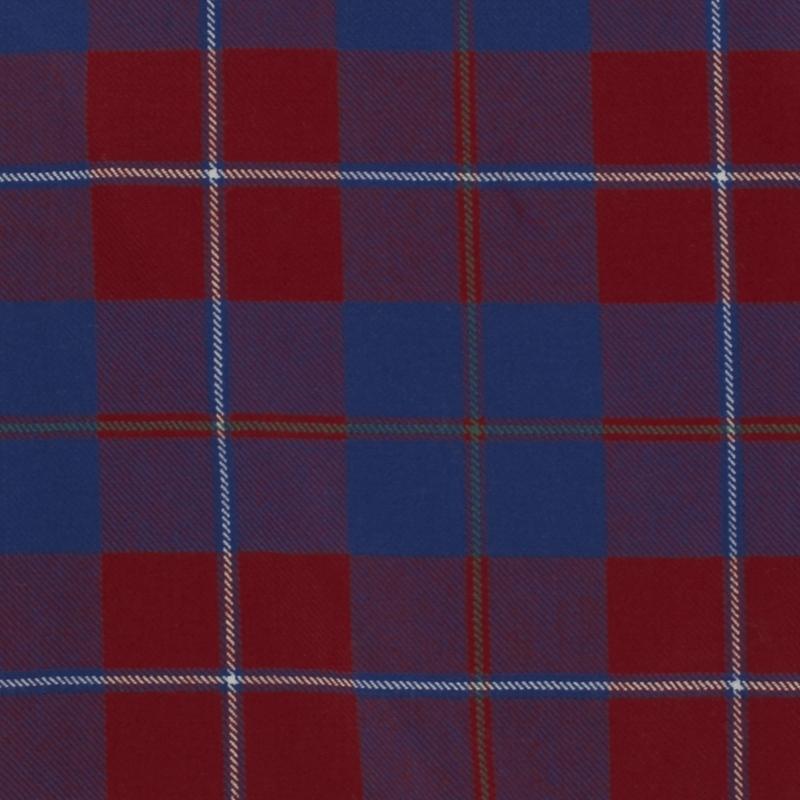 Tartan Fabric on Sale in Galloway Red Modern