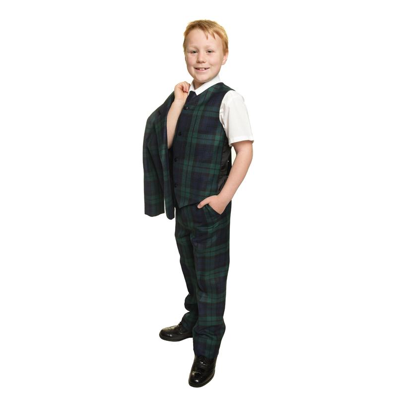 Boys Tartan Waistcoat and trousers