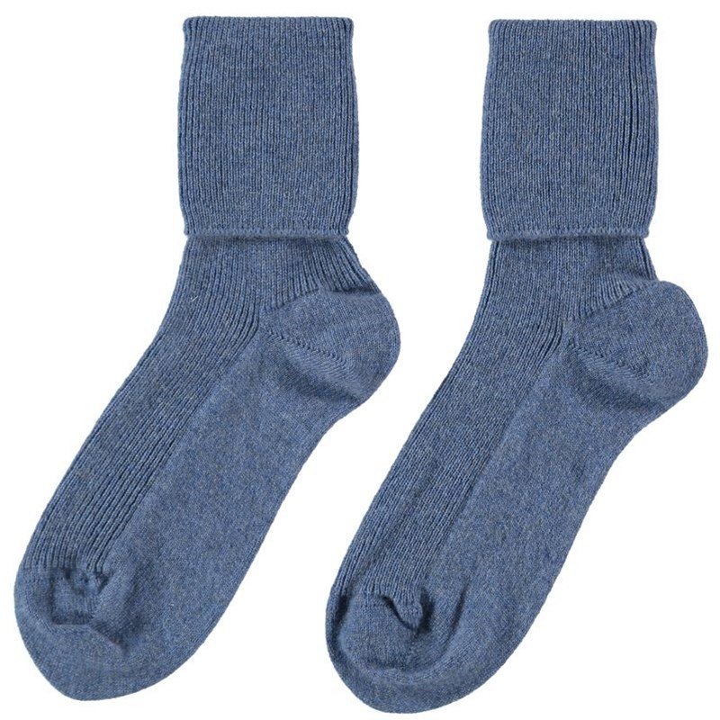 Women's Cashmere Mix Socks in Jean