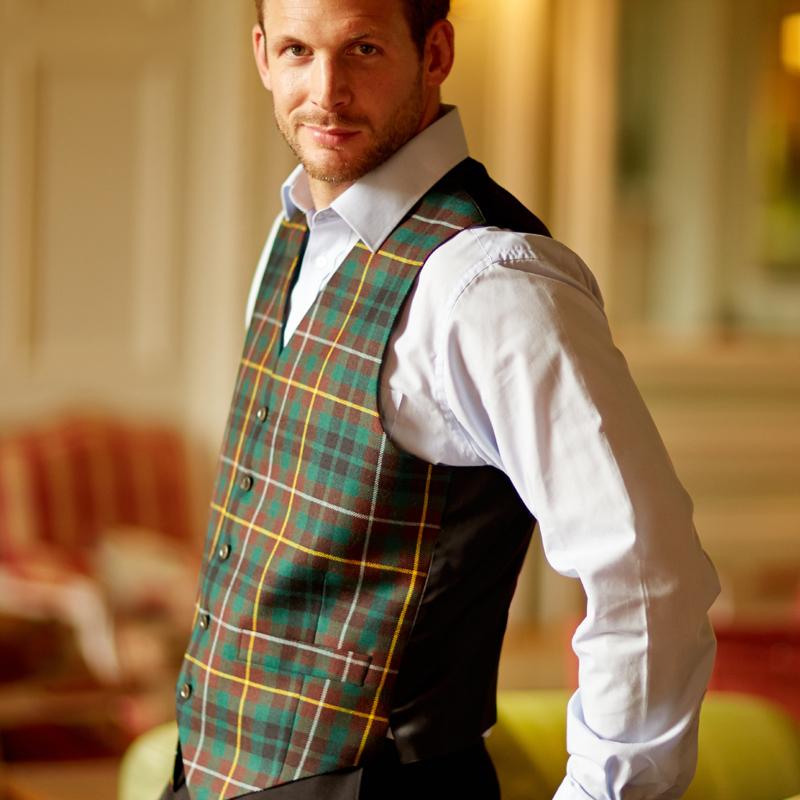 Men's Wool Tartan Waistcoat