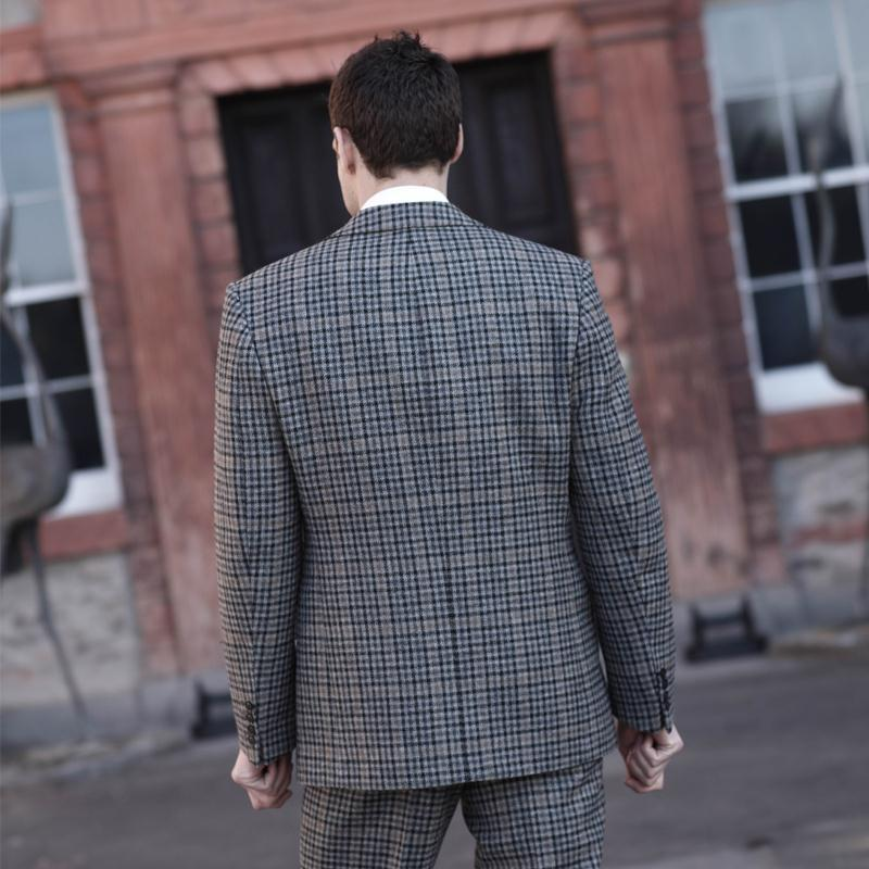 Mens Tweed Jacket Back