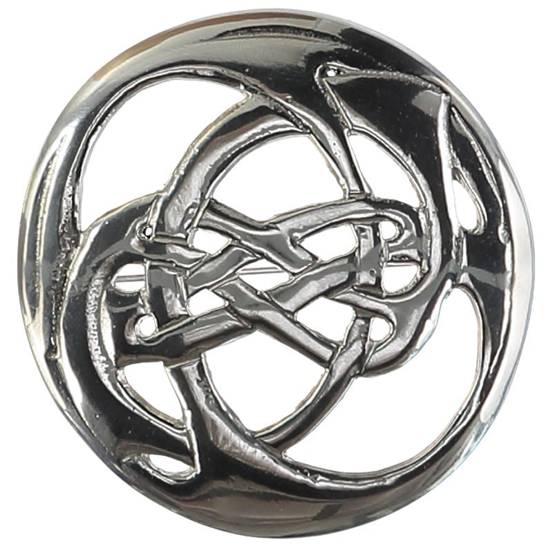 Oversize Celtic Knot Brooch in Silver