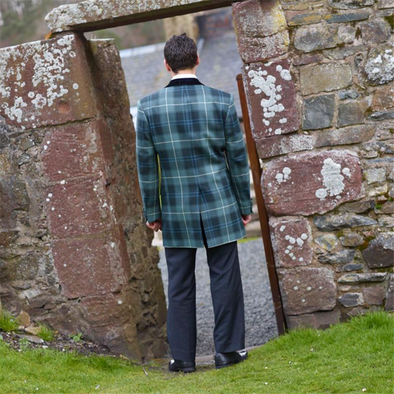 Patriot Weathered Mid Thigh Tartan Jacket Back