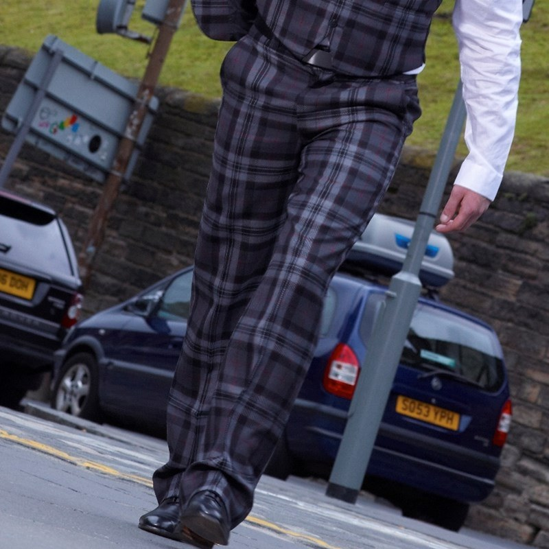 Pride Of Scotland Silver Tartan Trousers