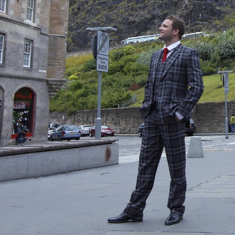Pride Scotland Silver Tartan Suit